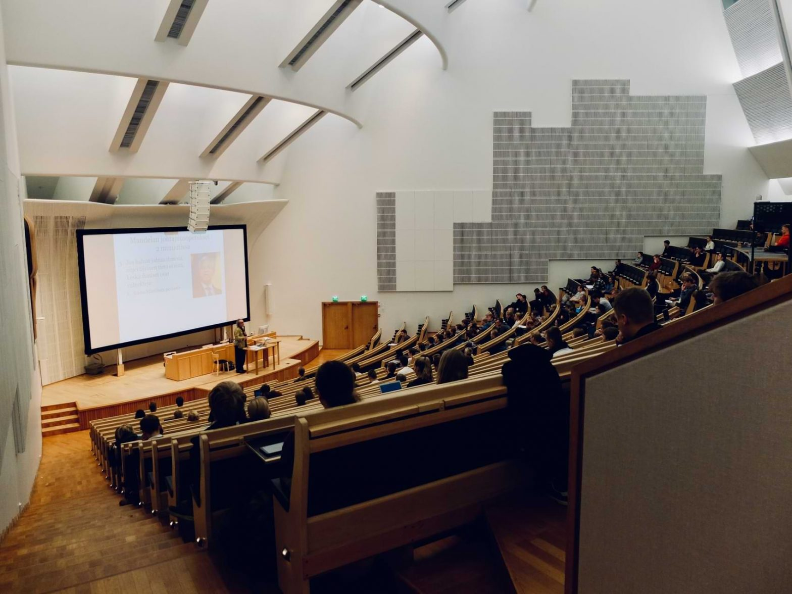 A lecture hall prepares for the upcoming Fall semester