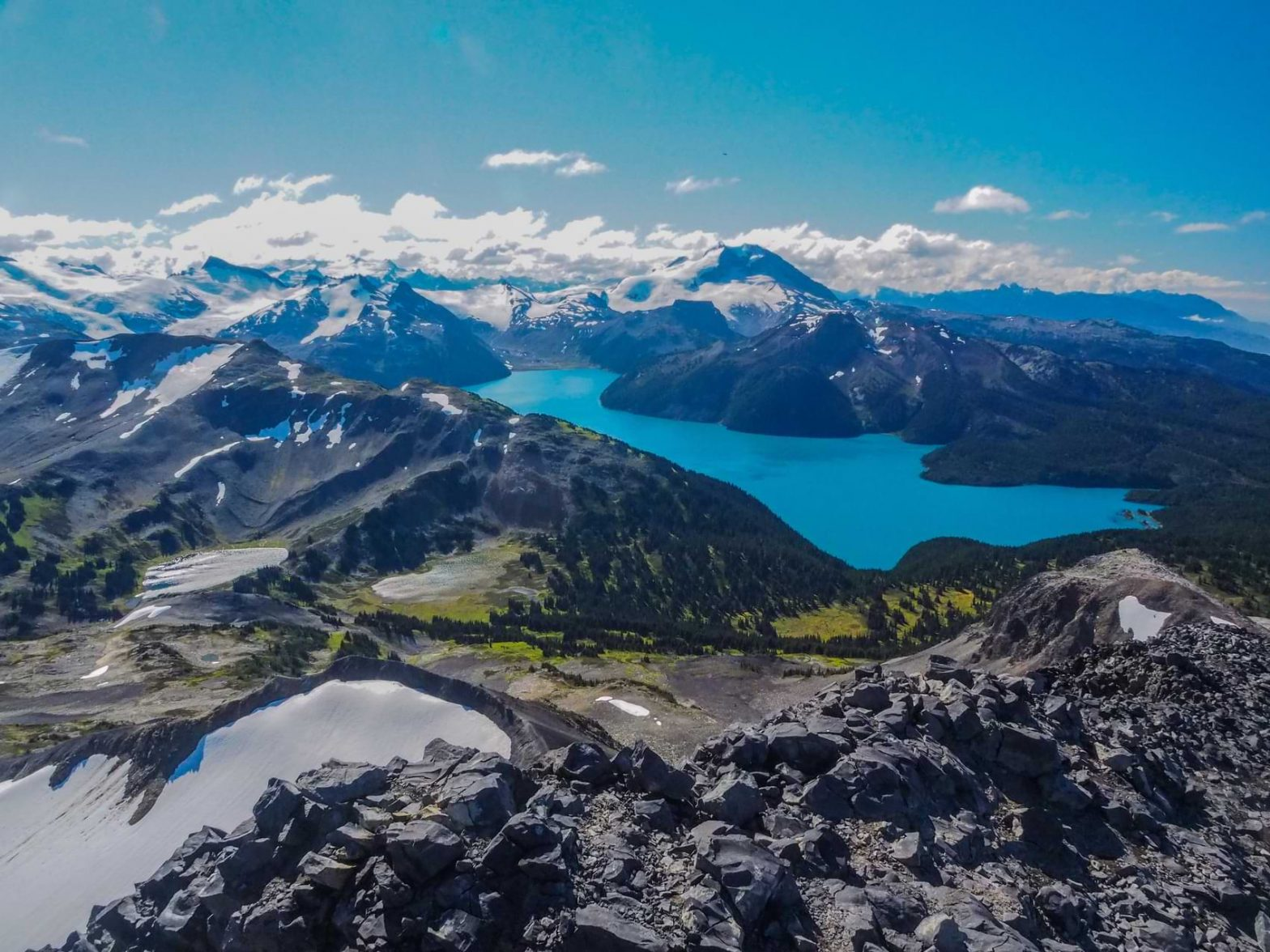 Garibaldi Lake in Whistler, B.C. shows off the town's stunning nature