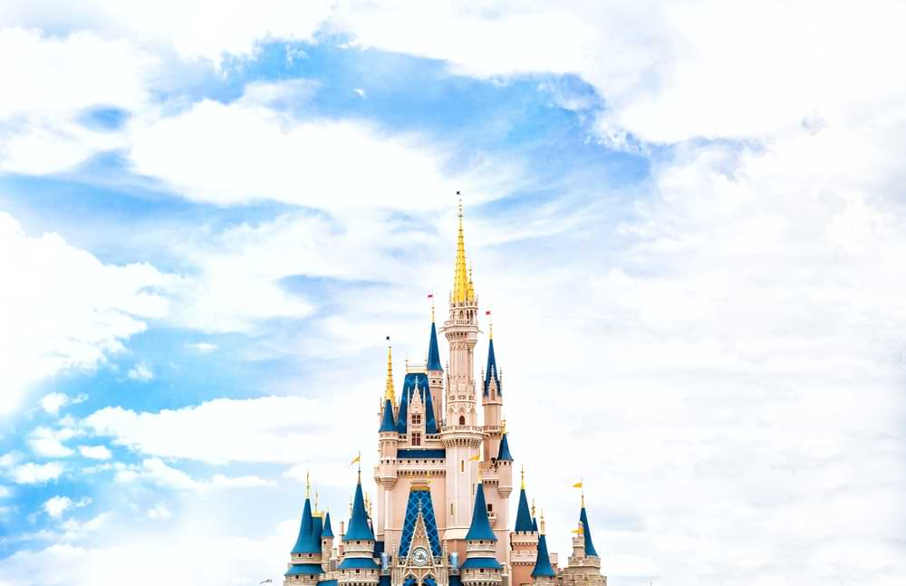 A view of the iconic Disney castle, one of the first images audiences will see when sitting down for Disney's 2021 movie lineup.