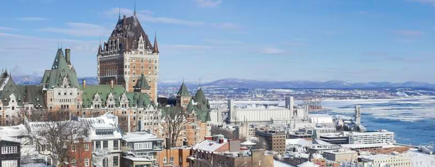 Quebec City and a view of the St. Lawrence River, home to some of the best cell phone plans Quebec has to offer.