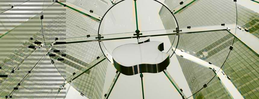 A suspended Apple logo at a store in Shanghai, where iPhone 14 rumours are all over the place.